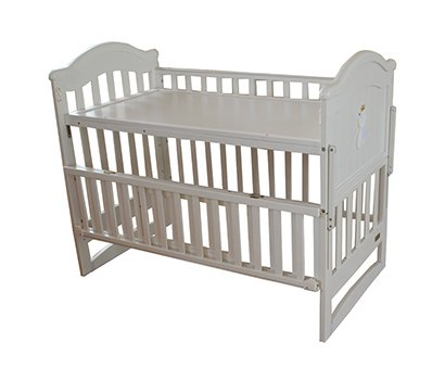 Yobi baby cot with cradle