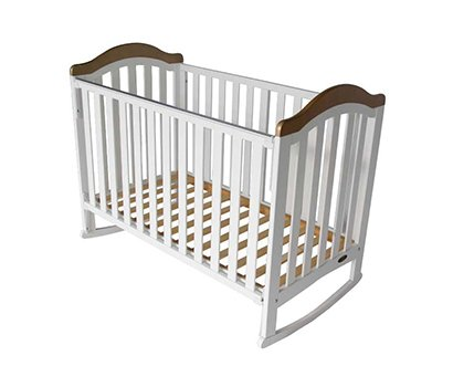 baby cot with grey head