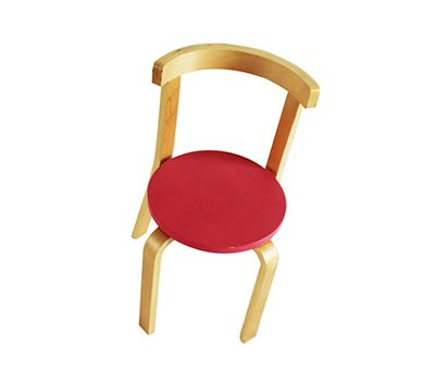 Red baby chair