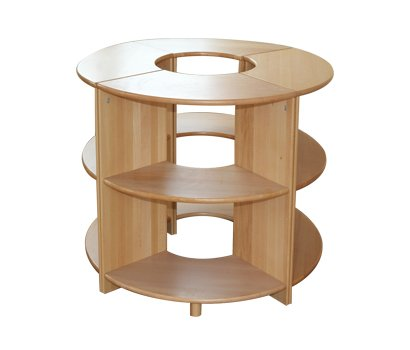 Beech  ring-shaped desk