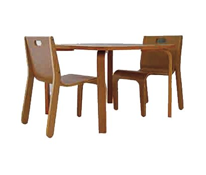 YORK wooden baby 1 table and 2 chair