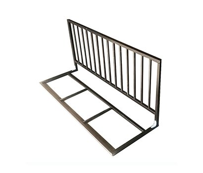 foldable bed gate natural