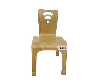 High wooden baby chair