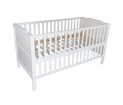 mother growing baby cot
