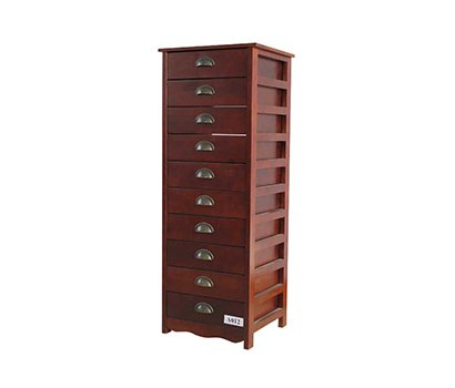Wooden Storage Cabinet With 10 Drawers